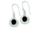 Sterling Silver Rhodium Stellux Crystal/black Agate Earrings style: QE9467