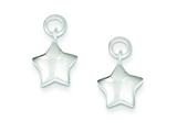 Sterling Silver Puffed Star EarringsEnhancer style: QE9583