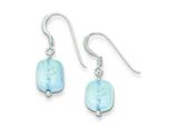 Sterling Silver Aquamarine Earrings style: QE9724