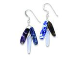 Sterling Silver Amethyst Blue Lace Agate and Sodalite Earrings style: QE9727