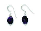 Sterling Silver Amethyst Stone Earrings style: QE9739