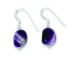 Sterling Silver Amethyst Earrings style: QE9740