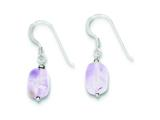 Sterling Silver Amethyst Earrings style: QE9742