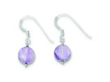 Sterling Silver Amethyst Earrings style: QE9743