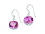 Sterling Silver Light Pink Agate Stone Earrings style: QE9745