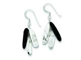 Sterling Silver Black Agate White Howlite and Rock Quartz Earrings style: QE9749