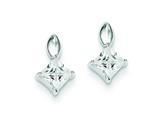 Sterling Silver Cubic Zirconia Post/dangle Earrings style: QE9779