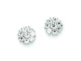 Sterling Silver Cubic Zirconia Post Earrings style: QE9782