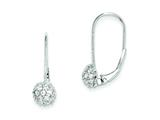 Sterling Silver Cubic Zirconia Leverback Earrings style: QE9784