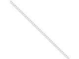 16 Inch Sterling Silver 4mm Curb Chain style: QFB100