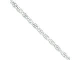 18 Inch Sterling Silver Hollow Rope Chain style: QFC113