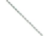 18 Inch Sterling Silver Hollow Rope Chain style: QFC119