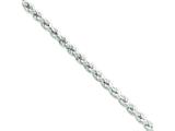 Sterling Silver Hollow Rope Chain style: QFC120