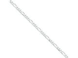 16 Inch Sterling Silver 4.25mm Figaro Chain style: QFG120