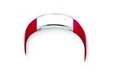 Sterling Silver Red Rubber Bracelet style: QG1103