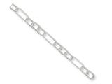 Sterling Silver Fancy Link Anklet style: QG1368