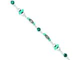 Sterling Silver Turquoise Anklet Bracelet style: QG1393