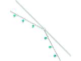 Sterling Silver Turquoise Double Chain Anklet Bracelet style: QG1394