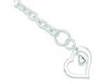 Sterling Silver Heart Bracelet style: QG1463