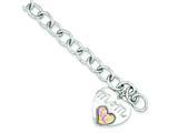 Sterling Silver Imitation Opal Mom Bracelet style: QG1466