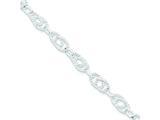 Sterling Silver Double Twist Link Bracelet style: QG1526