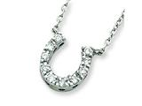Sterling Silver Cubic Zirconia Horse Shoe Necklace style: QG2032
