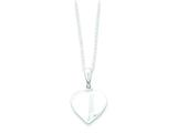 Sterling Silver Heart Necklace style: QG2069