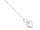 Sterling Silver Cubic Zirconia Heart Bracelet style: QG2371