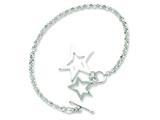 Sterling Silver Fancy Stars Bracelet style: QG2471
