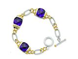 Sterling Silver Vermeil Purple Cubic Zirconia Bracelet style: QG2488