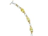 Sterling Silver Vermeil Light Yellow Cubic Zirconia Bracelet style: QG2489