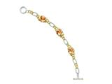 Sterling Silver Vermeil Champagne Cubic Zirconia Bracelet style: QG2490