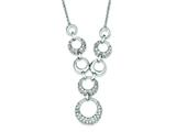 Sterling Silver Cubic Zirconia Circles Necklace style: QG2504