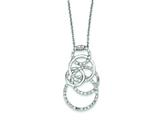 Sterling Silver Cubic Zirconia Circle Necklace style: QG2536