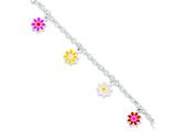 Sterling Silver Enameled Baby Bracelet style: QG2577
