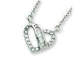 Sterling Silver Heart Cubic Zirconia Necklace style: QG2590