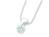 Sterling Silver Cubic Zirconia Necklace style: QG2614