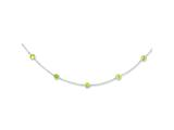 Sterling Silver Lime Cubic Zirconia Necklace style: QG2648