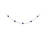 Sterling Silver Purple Cubic Zirconia Necklace style: QG2652