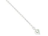 Sterling Silver Heart Anklet style: QG292