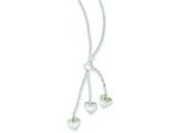 Sterling Silver Textured Fancy Heart Drop Necklace style: QG2962