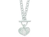 Sterling Silver Puffed Heart 18in Necklace style: QG2979
