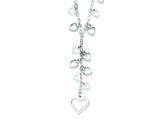 Sterling Silver Polished Puffed Heart Drop Necklace style: QG2981