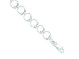 Sterling Silver Fancy Circle Bracelet style: QG3030