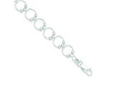 Sterling Silver Fancy Circle Bracelet style: QG3030
