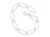 Sterling Silver Oval Link Bracelet style: QG3057