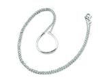 Sterling Silver Teardrop Charm Holder 17in Necklace style: QG3128