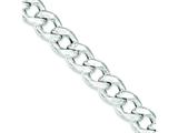 Sterling Silver Curb Bracelet style: QG3212