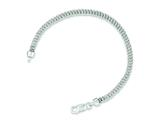 Sterling Silver Polished Fancy Link Bracelet style: QG3242