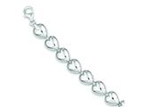 Sterling Silver Polished Heart Bracelet style: QG3266
